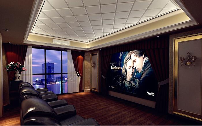 奢华高档欧式别墅客厅投影仪安装设计图片