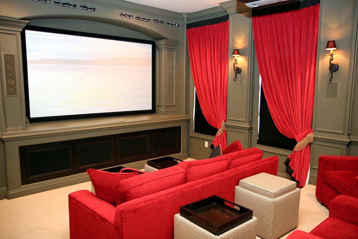 90后婚房客厅微型投影仪家庭影院装修设计效果图