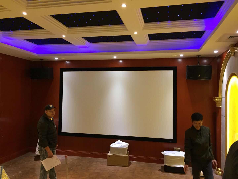 现代宫殿式家庭影院实体案例效果图