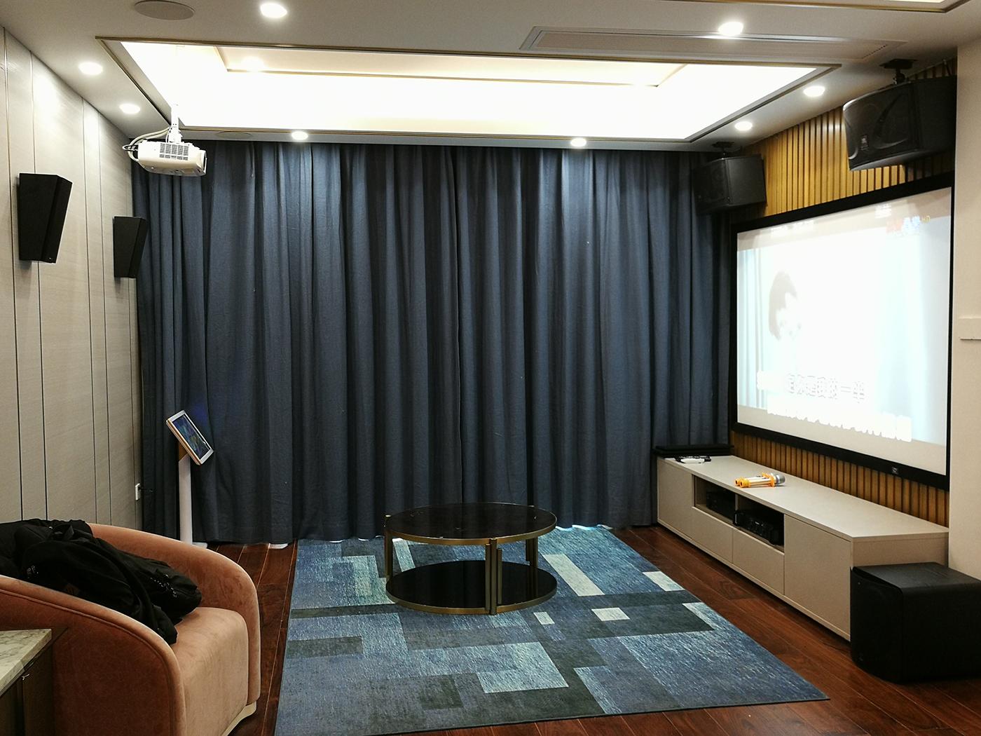 广州顺德碧桂园别墅客厅家庭影院KTV安装案例