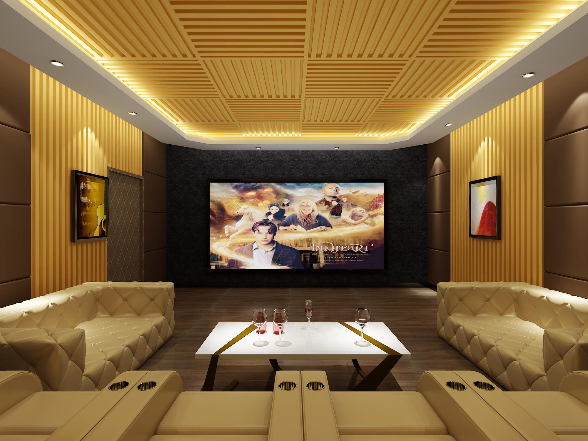 金沙洲金域蓝湾家庭影院卡拉OK系统安装案例效果图