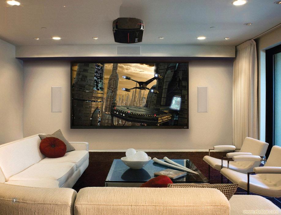 客厅家庭影院安装