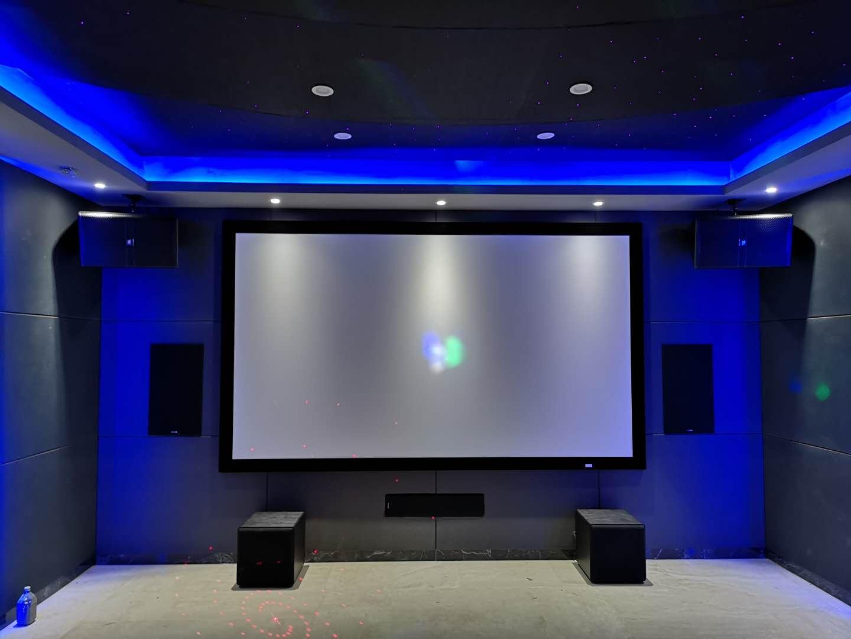 星河山海湾梦幻星空顶影音娱乐室安装案例