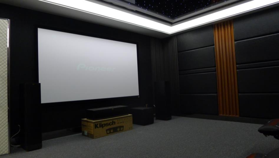 恒大御景半岛30平方家庭影院安装设计案例