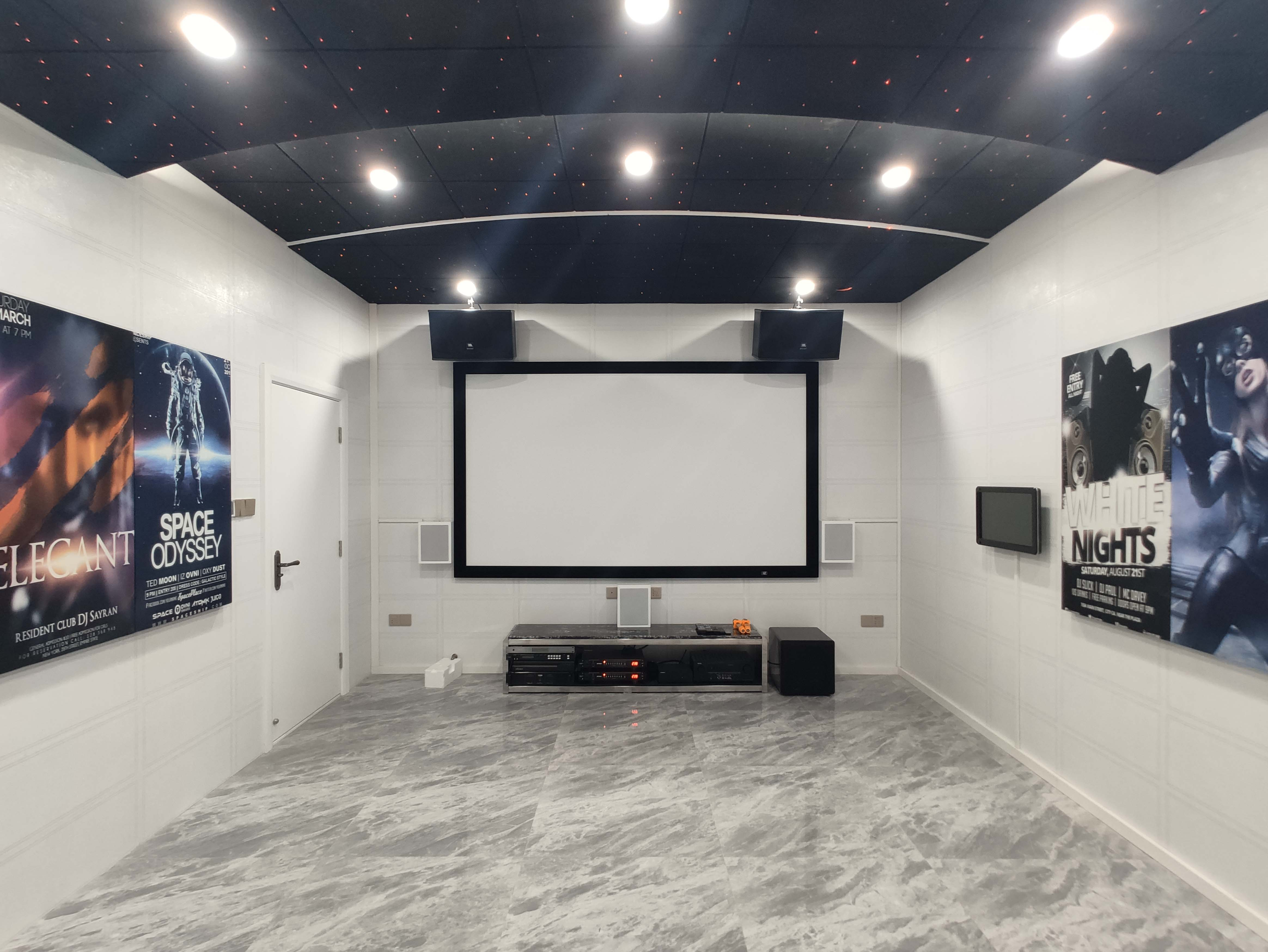 广州水悦龙湾家庭影院KTV案例装修设计解决方案分享